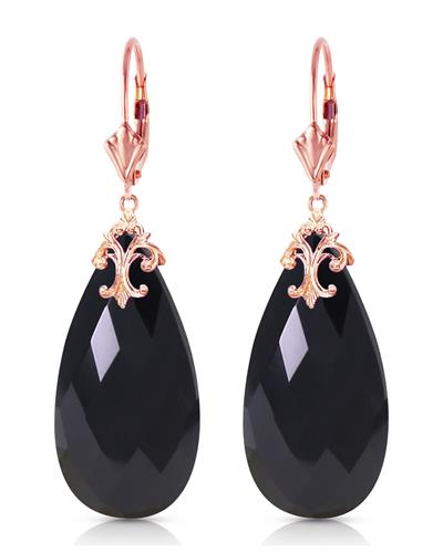 Magnolia Brand New Earring with 0ctw onyx 14K Rose gold