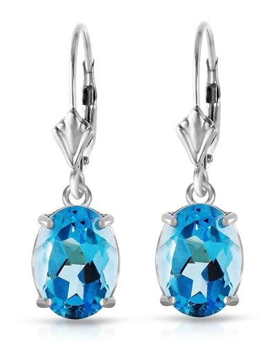 Magnolia Brand New Earring with 6.25ctw topaz 14K White gold