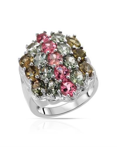 Brand New Ring with 6.74ctw tourmaline 925 Silver sterling silver
