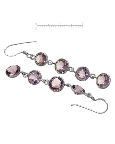 Brand New Earring with 10.7ctw amethyst 925 Silver sterling silver