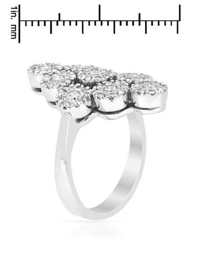 Brand New Ring with 1.15ctw diamond 14K White gold