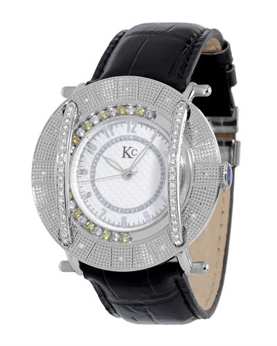 KC WA009451 Brand New Japan Quartz Watch with 0.55ctw of Precious Stones - crystal and diamond