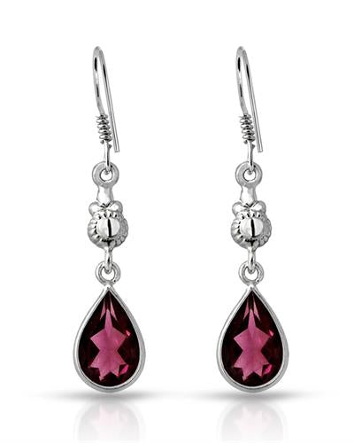 Brand New Earring with 6.25ctw garnet 925 Silver sterling silver