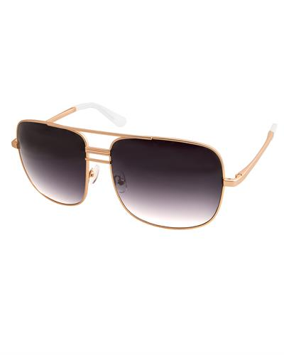 AQS LIA002 Black Lia Brand New Sunglasses  Gold metal