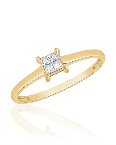 Brand New Ring with 0.1ctw diamond 14K Yellow gold