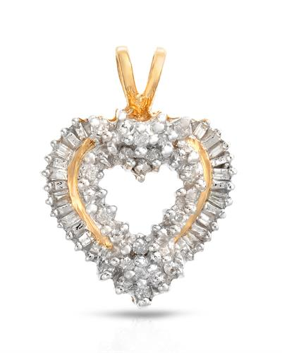 Brand New Pendant with 0.25ctw diamond 10K Yellow gold