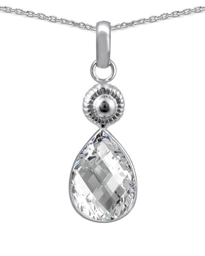 Brand New Necklace with 3.5ctw topaz 925 Silver sterling silver