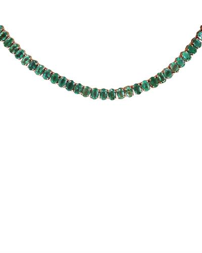 Brand New Necklace with 48ctw emerald 14K Yellow gold