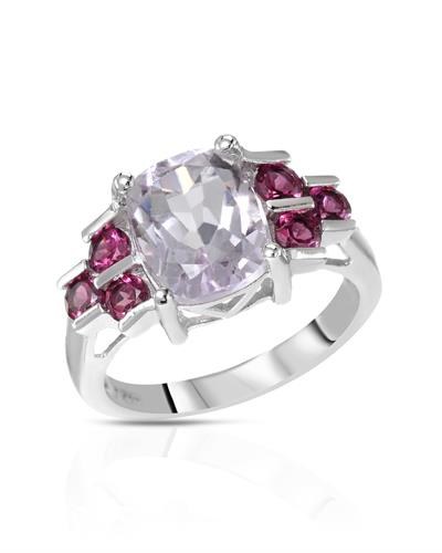 Brand New Ring with 2.83ctw of Precious Stones - amethyst and Rhodolite Garnet 925 Silver sterling silver
