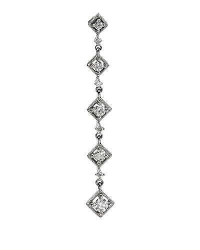 Brand New Pendant with 0.33ctw diamond 14K White gold