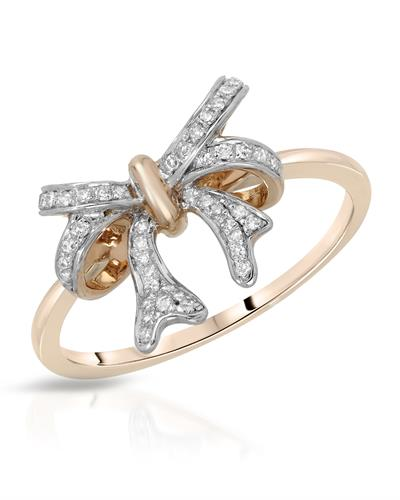 Whitehall Brand New Ring with 0.11ctw diamond 14K Rose gold