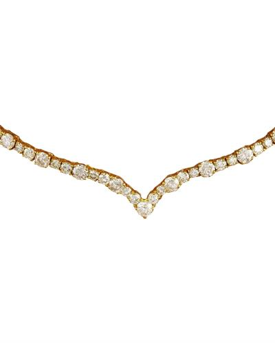 Brand New Necklace with 14.1ctw diamond 14K Yellow gold