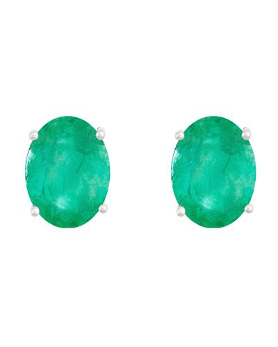 Brand New Earring with 2.2ctw emerald 14K White gold