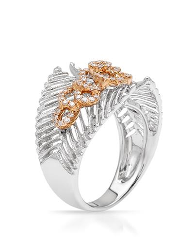 Brand New Ring with 0.39ctw diamond 18K Two tone gold