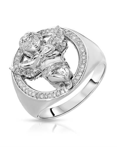 Brand New Ring with 0.3ctw diamond 925 Silver sterling silver