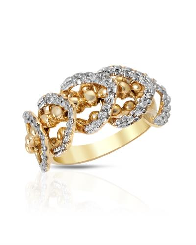 Lundstrom Brand New Ring with 0.32ctw diamond 10K Yellow gold