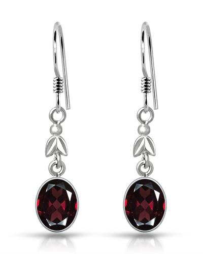 Brand New Earring with 4.25ctw garnet 925 Silver sterling silver