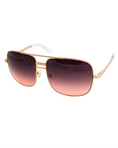 AQS LIA005 Pink/Black Lia Brand New Sunglasses  Gold metal
