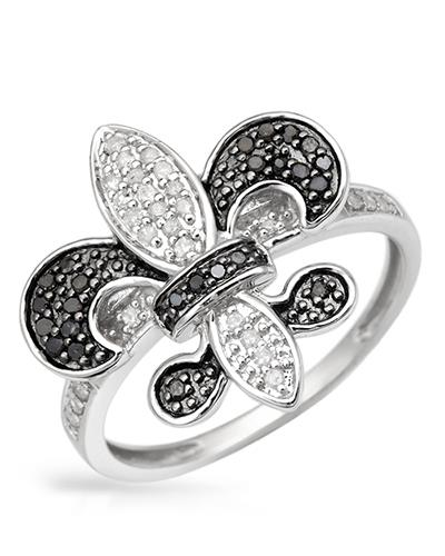 Lundstrom Brand New Ring with 0.35ctw of Precious Stones - diamond and diamond 10K White gold