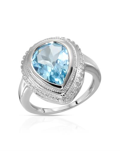 Brand New Ring with 5.5ctw topaz 925 Silver sterling silver