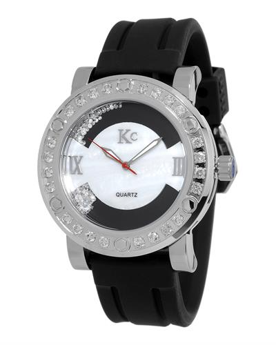 KC WA006340 Brand New Japan Quartz Watch with 3ctw of Precious Stones - crystal, diamond, and mother of pearl