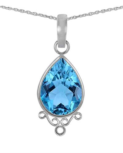 Brand New Necklace with 2.8ctw topaz 925 Silver sterling silver