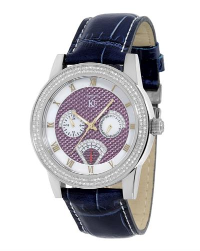 Techno Com by KC WA009448 Brand New Japan Quartz multifunction Watch with 1.25ctw of Precious Stones - crystal and diamond