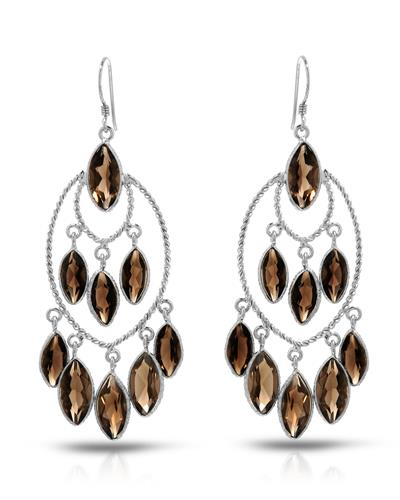 Brand New Earring with 23.5ctw topaz 925 Silver sterling silver