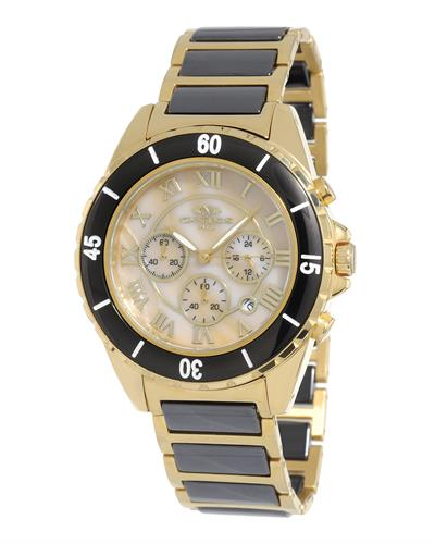 Oniss ON8500-55 PARIS Brand New Japan Quartz date Watch with 0ctw mother of pearl