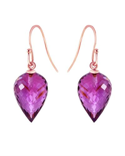 Magnolia Brand New Earring with 19ctw amethyst 14K Rose gold