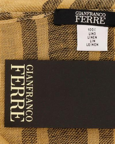 Gianfranco Ferre SCR92844/9 Brand New Scarf  Two tone Linen Flax