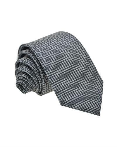 Victorio Brand New Tie  Grey Fabric