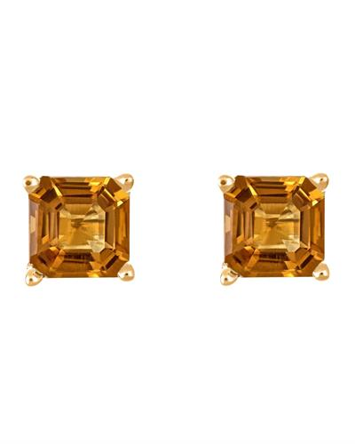 Brand New Earring with 1.9ctw citrine 14K Yellow gold