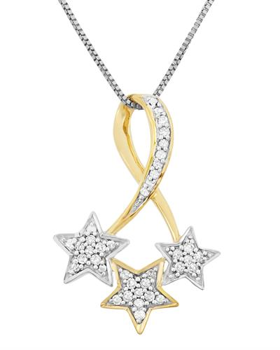 Brand New Necklace with 0.15ctw diamond 925 Two tone sterling silver