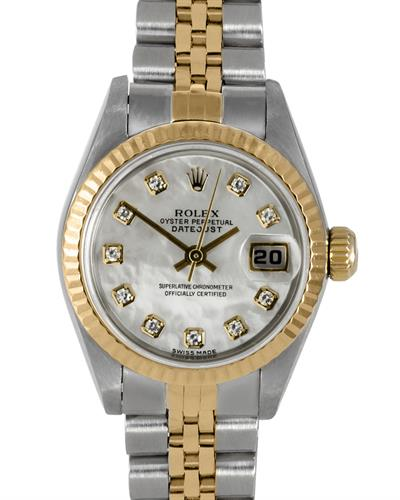 Rolex 6917 PreOwned Automatic date Watch with 0.1ctw of Precious Stones - diamond and mother of pearl