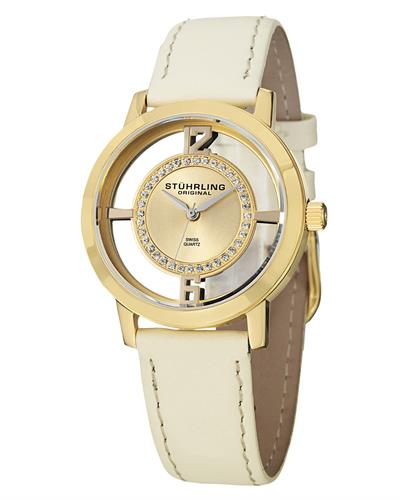 STUHRLING ORIGINAL 388L2.SET.02 Vogue Brand New Swiss Quartz Watch with 0ctw Swarovski Crystal