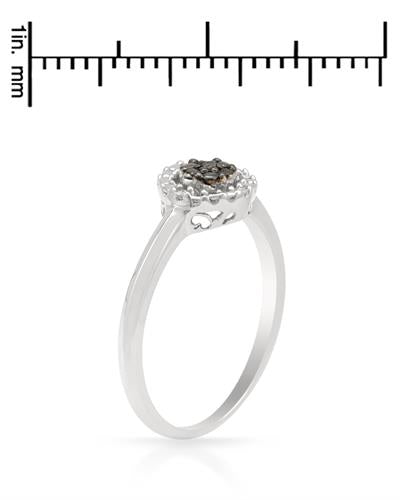 Brand New Ring with 0.03ctw of Precious Stones - diamond and diamond 925 Silver sterling silver