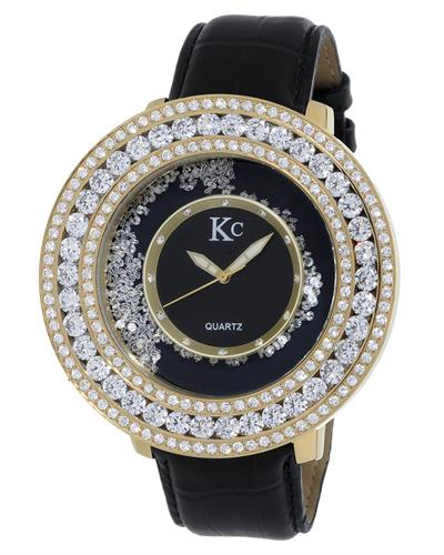 KC WA009413 Brand New Quartz Watch with 0ctw cubic zirconia