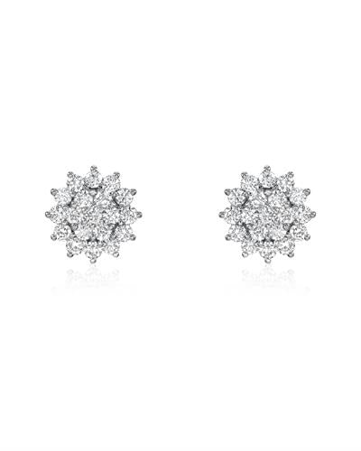 Julius Rappoport Brand New Earring with 2.1ctw diamond 18K White gold
