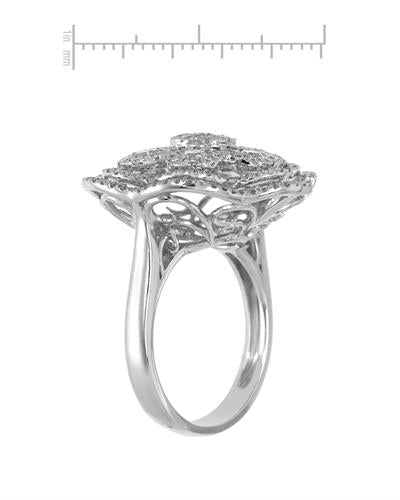 Brand New Ring with 1.76ctw diamond 18K White gold