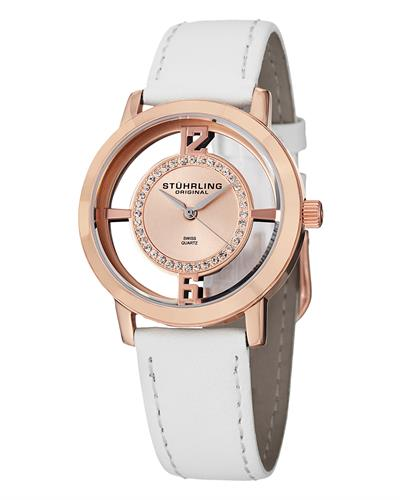 STUHRLING ORIGINAL 388L2.SET.03 Vogue Brand New Swiss Quartz Watch with 0ctw Swarovski Crystal