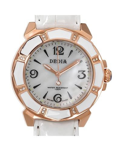 DEDIA 6201LL030 Lily L Brand New Swiss Quartz Watch with 0.08ctw of Precious Stones - diamond and mother of pearl