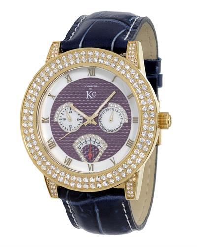 Techno Com by KC WA009447 Brand New Japan Quartz multifunction Watch with 3ctw of Precious Stones - crystal and diamond