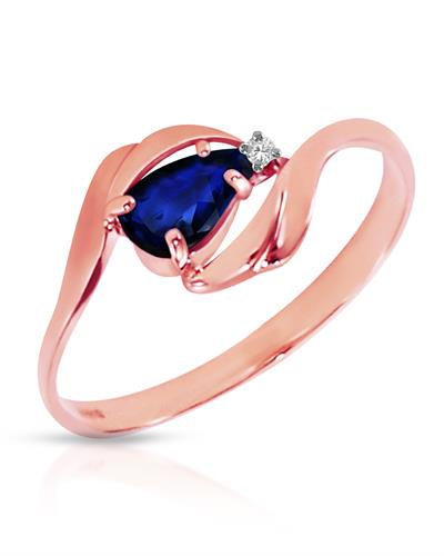 Magnolia Brand New Ring with 0.51ctw of Precious Stones - diamond and sapphire 14K Rose gold