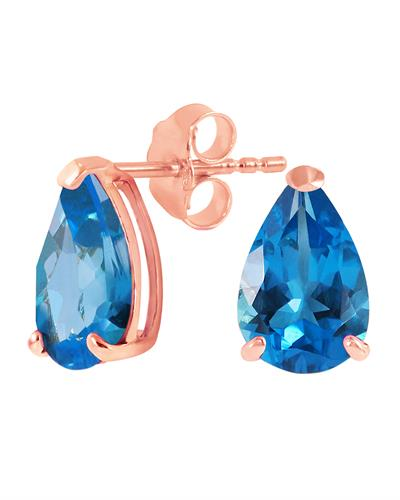 Magnolia Brand New Earring with 3.15ctw topaz 14K Rose gold