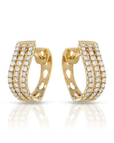 Whitehall Brand New Earring with 0.47ctw diamond 18K Yellow gold
