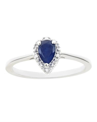 Brand New Ring with 0.46ctw of Precious Stones - diamond and sapphire 925 Silver sterling silver