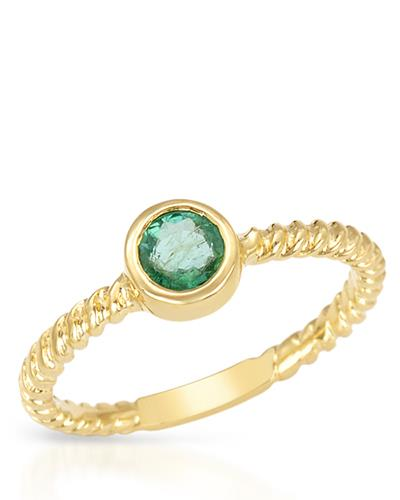 Brand New Ring with 0.35ctw emerald 14K Yellow gold
