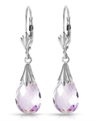 Magnolia Brand New Earring with 6ctw amethyst 14K White gold