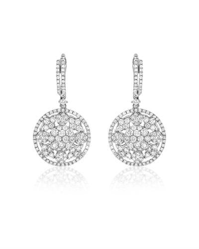 Julius Rappoport Brand New Earring with 2.58ctw diamond 18K White gold